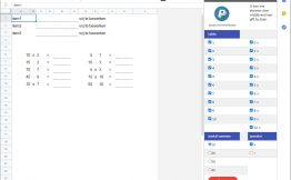 maal en deeltafels in google sheets